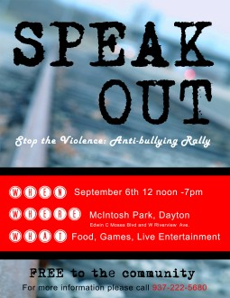Anti-bullying Rally Flyer